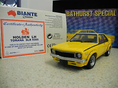 AU199.99 • Buy Biante Classics 1:18 Holden LH Torana SLR 5000 'L34' Option   Chrome Yellow