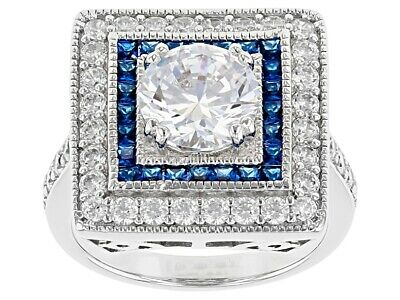 $49.98 • Buy Charles Winston For Bella Luce Blue Spinel And White Cubic Zirconia Ring 5.38ctw