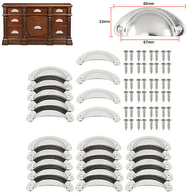AU19.75 • Buy 24X Kitchen Cupboard Door Cabinet Cup Drawer Furniture Shell Pull Antique Handle