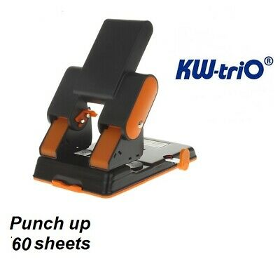 AU59 • Buy KW TRIO Metal Heavy Duty 2 Hole (6mm Hole) Punch Up To 60 Sheets 80gsm ORANGE