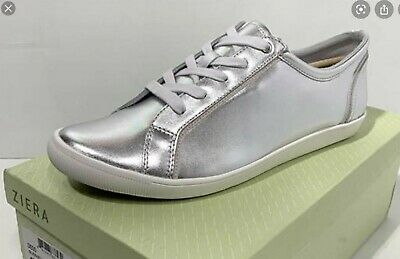 AU60 • Buy Ziera Diego Silver Leather Sneakers Flats Size 40/9 XF Arch Support Brand New