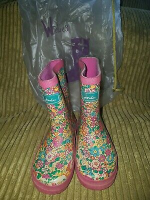 Joules Girls Ditsy Flower Wellies, Size UK7 EUR 24, Wellington Boots - Vintage • 2.20£