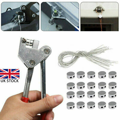 Electric Water Meter Sealing Plier Kits Security 20 Wire & 10mm Seals Lead UK • 10.33£