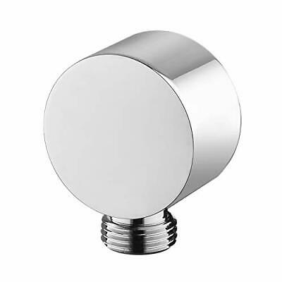 Wall Supply Elbow Chrome, Brass Round Wall Mount Shower Hose Connector • 22.99£