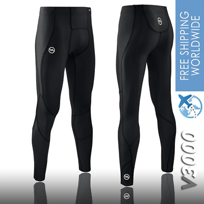 Mens Compression Tights Pants V3000 Gym Running A400 Multi Sports Skins Recovery • 33.32£