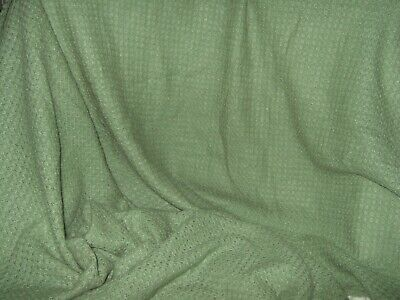 Pale Green Knitted Woollen Fabric, New, Kept Moth And Smoke Free 86 By 24 Inches • 10£