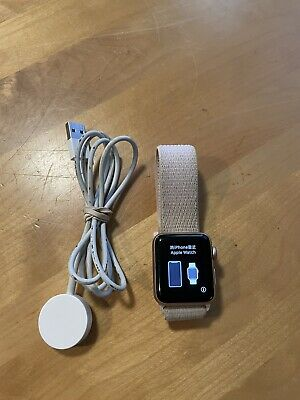 $ CDN101.65 • Buy Apple Watch Series 3 - Rose Gold With Pink Sand Sport Band (GPS + Cellular) -...