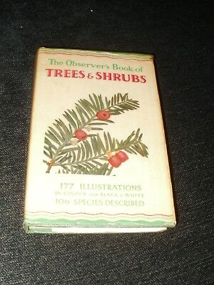 £5.99 • Buy THE OBSERVER'S BOOK OF TREES AND SHRUBS C1958