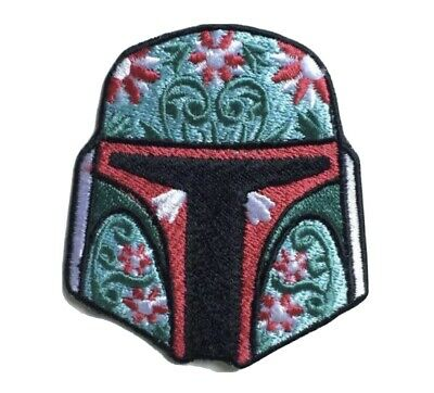 Boba Fett Helmet Star Wars Badge Iron Or Sew On Embroidered Patch • 1.95£