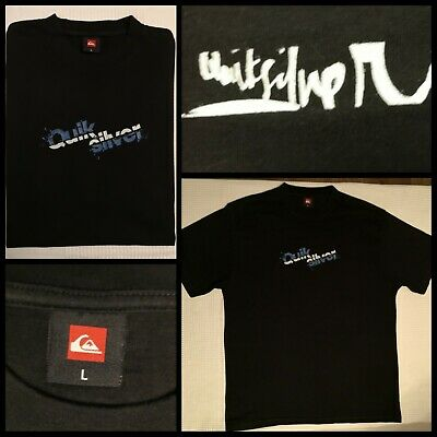 Fabulous Mens Brand New Quicksilver Tee Shirt, Black And Sized Large • 12.50£