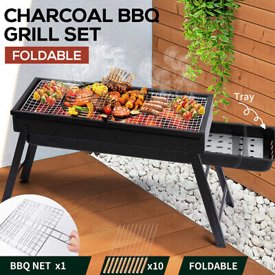 AU26.99 • Buy Charcoal BBQ Grill Protable Hibachi Barbecue Outdoor Foldable Camping Picnic Set