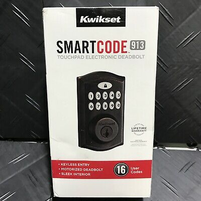 $ CDN62.03 • Buy Kwikset SmartCode 913 Electronic Deadbolt In Bronze 99130-003