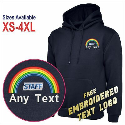 Personalised Medical Staff Rainbow Embroidered Logo Support Doctor Nurses Hoodie • 16.99£