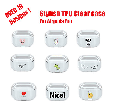 AU8.99 • Buy Shockproof Clear TPU Case Cover Cute Animation Transparent Skin For AirPods Pro