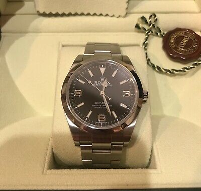 $ CDN10077.95 • Buy Rolex Explorer 214270 Blackout Rare Box And Papers G Number