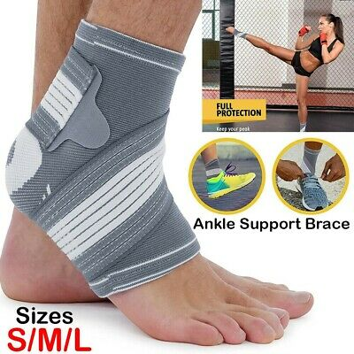 Ankle Support Brace Compression Achilles Tendon Strap Foot Sprains Injury • 4.39£