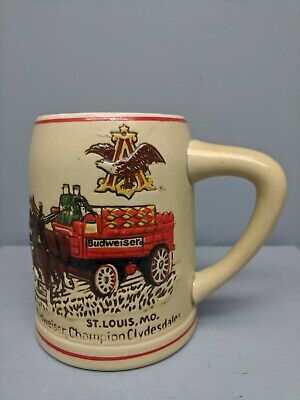 $ CDN31.75 • Buy Vintage Early Or Pre 1980 Budweiser Holiday Stein Clydesdales By Ceramarte