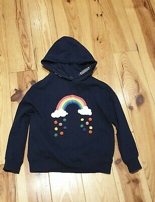 Next Girls Navy Blue Rainbow Hoodie Age 8 Years • 1.99£