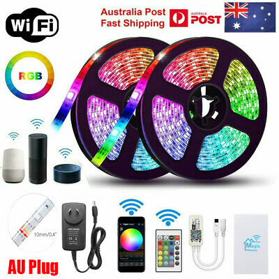 AU27.54 • Buy 5M Smart Wifi RGB Waterproof 300 LED Strip Lights For Alexa Echos Google Home