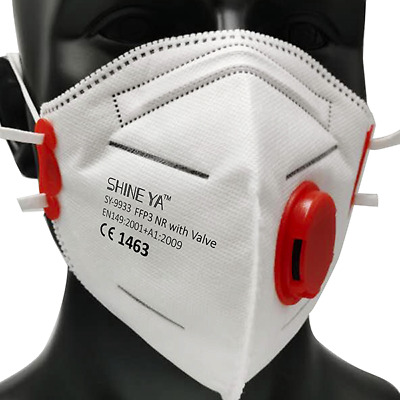 FFP3 Face Mask Cup Dust Masks Particulate Valved P3 N99 Disposable Respirator • 21.99£
