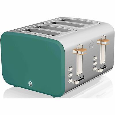 £57.37 • Buy Swan 4 Slice Nordic Style Toaster Power 1500W Auto-Electric Power Cut Off, Green