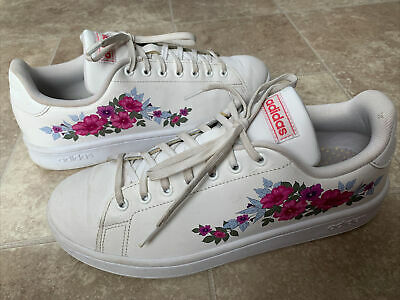 $ CDN42.03 • Buy Adidas EF0130 Advantage Flowers White Casual Shoes Sneakers Women's Size 9.5