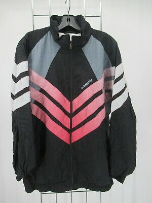 $ CDN10.81 • Buy I9572 VTG Adidas Full Zip 3 Stripes Trefoil Windbreaker Jacket Size L