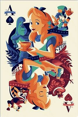 $ CDN1.26 • Buy Alice In Wonderland Poster A4 Size Home Decor Playing Card Art Alice Poster