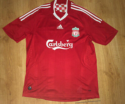 Mens Red Adidas Liverpool FC Tshirt Uk Size L • 7£