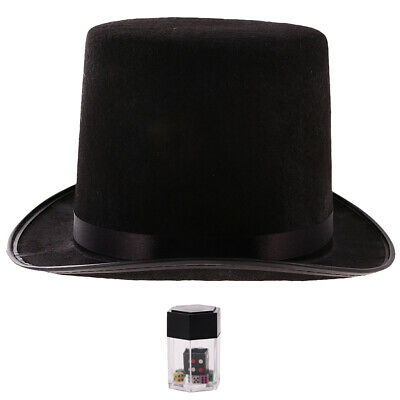 £4.60 • Buy Magician Top Hat Top Adult Black And 1pc Explosion Dice Magic Dice Game Props