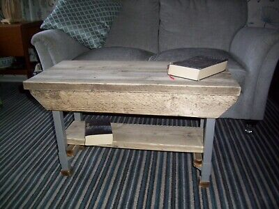 Rustic Scaffold Board Coffee Table With Metal Legs A Charming Piece • 100£