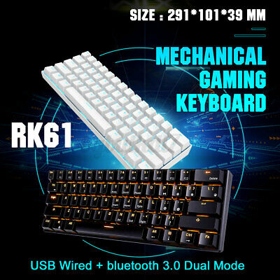 AU66.99 • Buy Royal Kludge RK61 Mechanical Gaming Keyboard Bluetooth Wired LED Backlit 2021