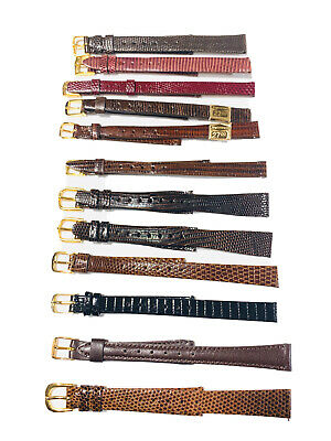 $ CDN11.35 • Buy Vintage Lot-12-nos Seiko&more Leather Ladies Wrist Watch Bands(1979m)
