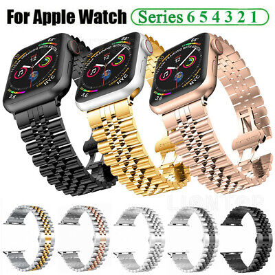 $ CDN15.84 • Buy 40/42/44mm Stainless Steel Link Band IWatch Strap For Apple Watch Series 6 5 4 3
