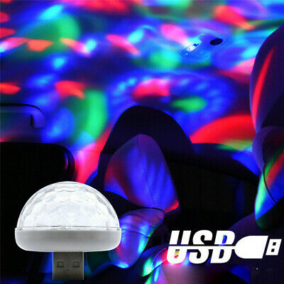 Durable USB Car Atmosphere Lamp Interior Ambient Star Light LED Projector Tool • 2.21£