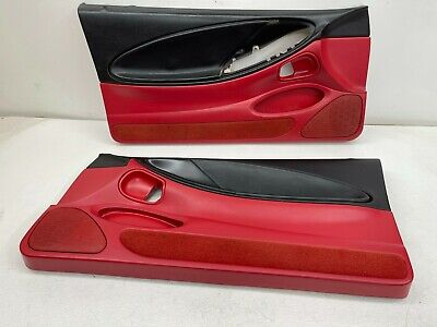 $350 • Buy 1994-1995 OEM Ford Mustang Door Panels Front Pair Red 94-95 |S9034
