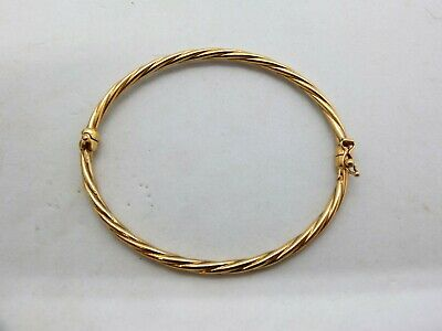 AU125 • Buy 9ct Gold Silver Filled Twist Style Bangle 925 2/10 375