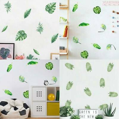 Tropical Green Plant Leaf Wall Stickers Home Bedroom Decoration Decal~Nice • 2.91£