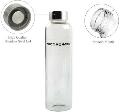 £10 • Buy GLASS Water Bottle Drinking 550ml Drink Sports Insulate Protection Sleeve