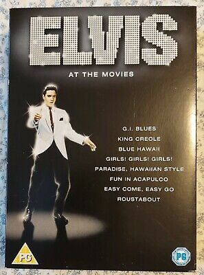 Elvis Presley, 'ELVIS AT THE MOVIES'  DVD MOVIE COLLECTION 4 DISCS 8 Films • 10£
