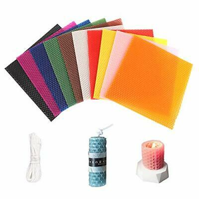 £16.99 • Buy Beeswax Candle,10 Colors Beeswax Sheets Candle Making Kit With 10 Feet