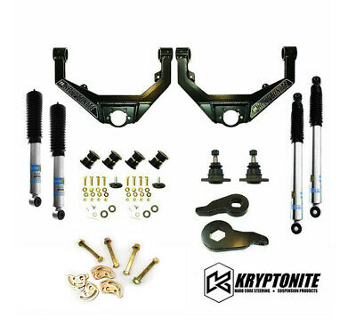 $964.23 • Buy Kryptonite Stage 3 Leveling Kit Bilstein Shocks For 01-10 Chevy/GMC 2500HD 3500