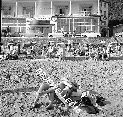 Old Negative.Sexy Antics On Beach At Ventnor.Watched By Holidaymakers.1970.B203 • 2.50£