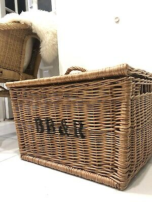 Wicker Basket Storage Large With Lid & Handles Toy Box Home Decor Boho • 38.60£