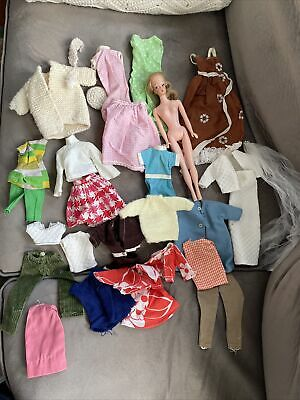 """$ CDN31.78 • Buy Vintage Barbie Clothes/clone HOMEMADE Lot And Vintage """"Barbie-like"""" Doll"""