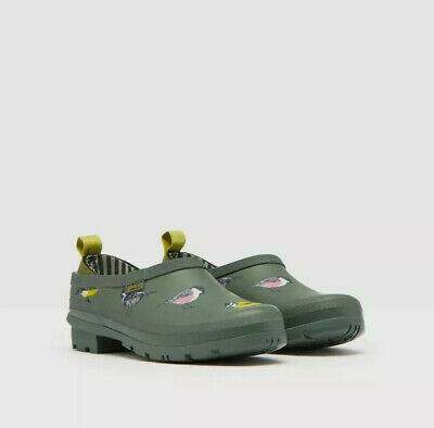 Joules Womens Pop On Welly Clog - Green Birds - Adult 3 • 39.95£