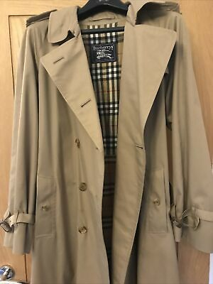 Burberry Trench Coat Ladies Vgc, Genuine Vintage From Whitby Factory • 119.99£