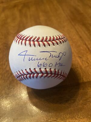 $ CDN12.62 • Buy WILLIE MAYS SIGNED AUTOGRAPHED  With 660 HR OFFICIAL MAJOR LEAGUE BASEBALL