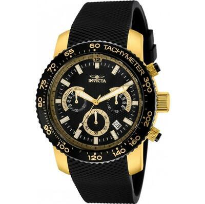 Invicta Specialty 11293 Men's Round Gold Tone Chronograph Polyurethane Watch • 26.33£