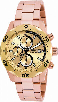 Invicta Specialty 17755 Men's Round Rose Gold Tone Chronograph Date Analog Watch • 5.85£